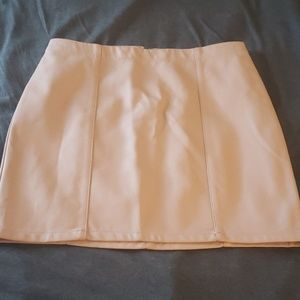 Forever 21 Leather Baige Skirt - Size S (NWT)